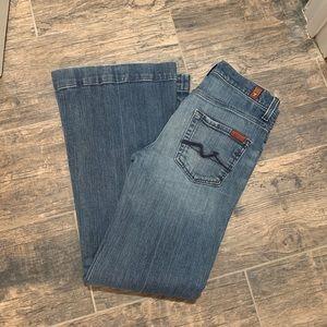 7FAMK flare jeans